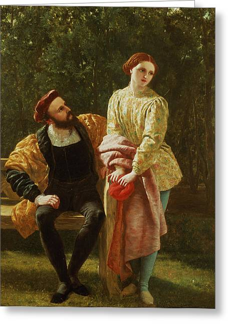 Orsino And Viola Greeting Card by Frederick Richard Pickersgill