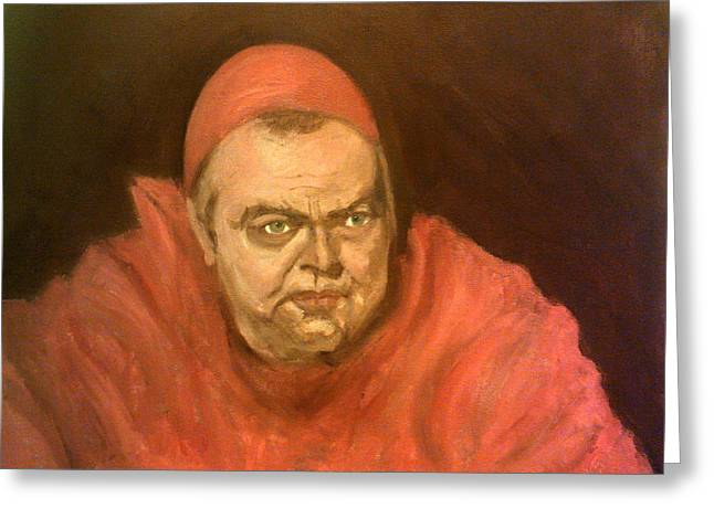 Orson Welles As Cardinal Wolsey Greeting Card