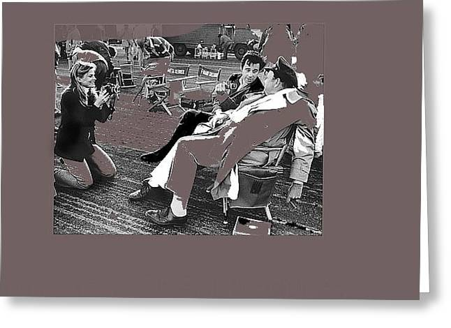 Orson Welles Being Photographed And Interviewed Catch 22 Set Guaymas Mexico 1969-2015 Greeting Card by David Lee Guss