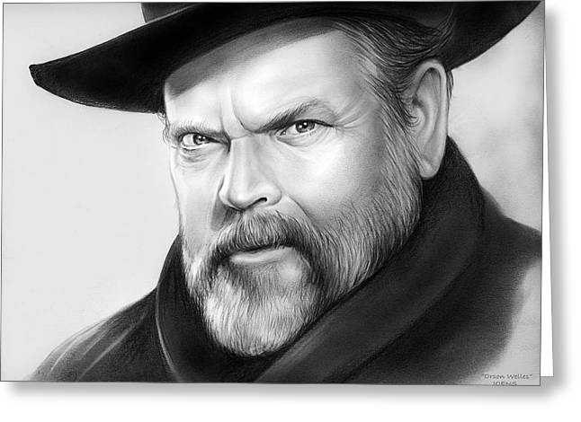 Orson Welles Greeting Card by Greg Joens