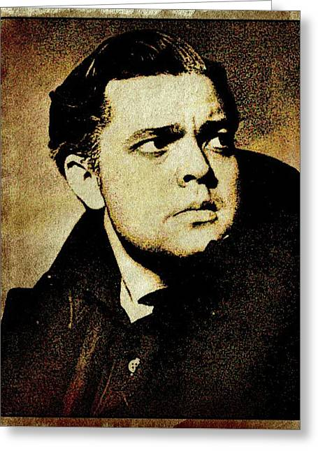 Orson Welles Vintage Hollywood Actor Greeting Card by Esoterica Art Agency