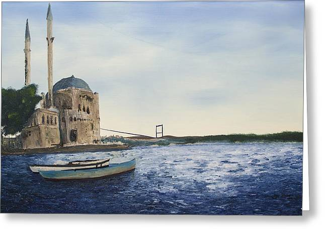 Ortakoy Mosque Greeting Card