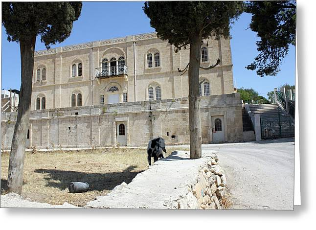Orthodox Convent In Hebron Greeting Card by Munir Alawi