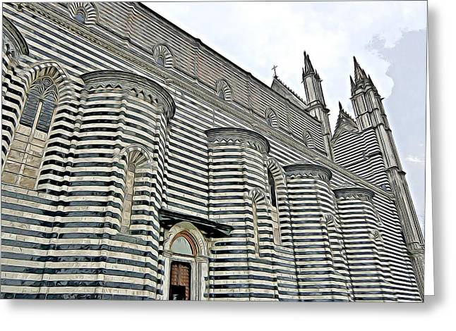 Orvieto Cathedral In Italy Greeting Card