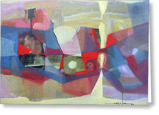 Os1957bo003 Abstract Landscape Potosi 23.75x18.25 Greeting Card