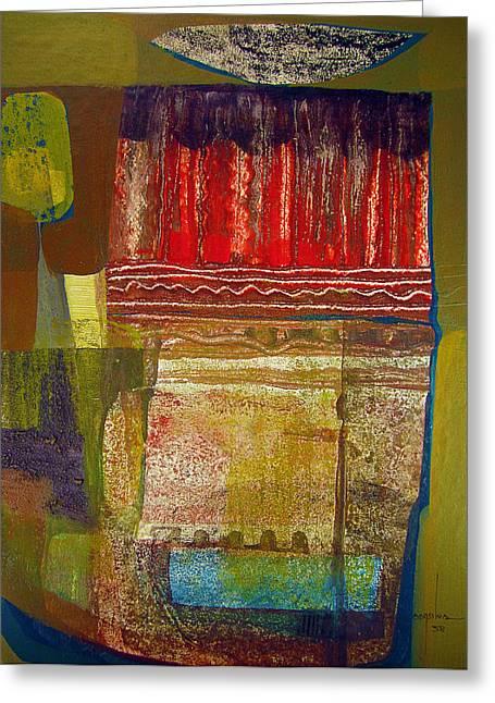 Os1958bo003 Abstract Landscape Potosi 16.6x22.75 Greeting Card by Alfredo Da Silva