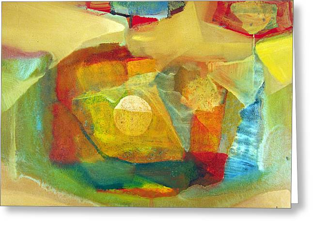 Intuition Greeting Cards - OS1959BO003 Abstract Landscape Potosi 17.75x16.5 Greeting Card by Alfredo Da Silva
