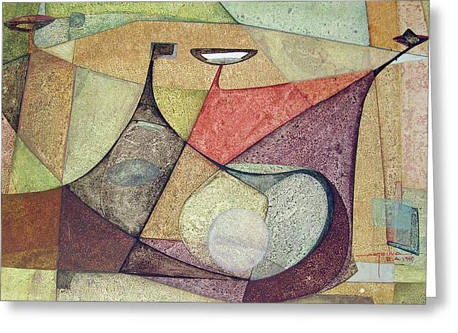 Os1960ar001ba Abstract Design 16.75x11.5 Greeting Card by Alfredo Da Silva