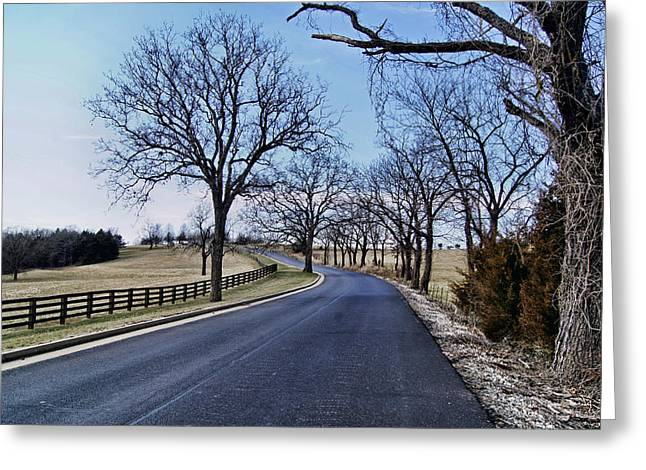 Greeting Card featuring the photograph Osage County Road by Cricket Hackmann