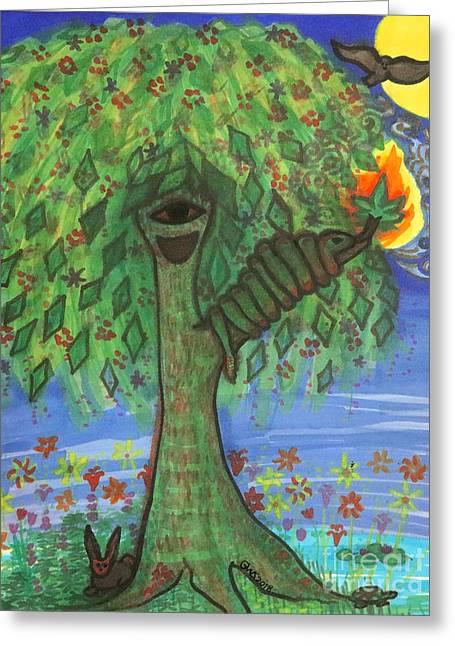 Osain Tree Greeting Card