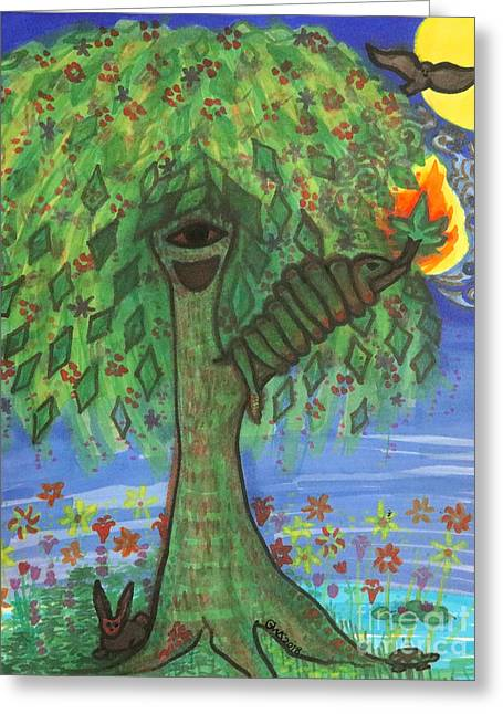 Osain Tree Greeting Card