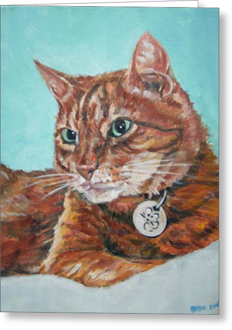 Greeting Card featuring the painting Oscar by Bryan Bustard