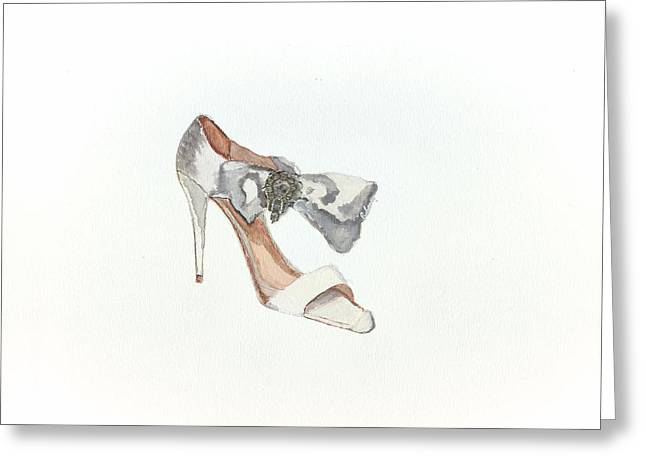 Open Toe Shoes Greeting Cards - Oscar  Greeting Card by Lauri Serene