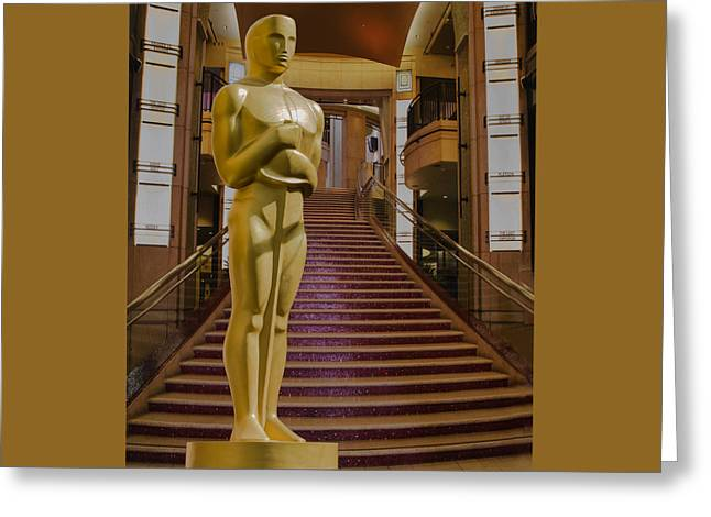 Oscar Statue Dolby Theater Greeting Card by Janet Ballard