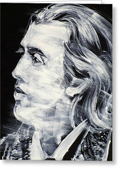 Oscar Wilde - Acrylic Portrait.2 Greeting Card by Fabrizio Cassetta