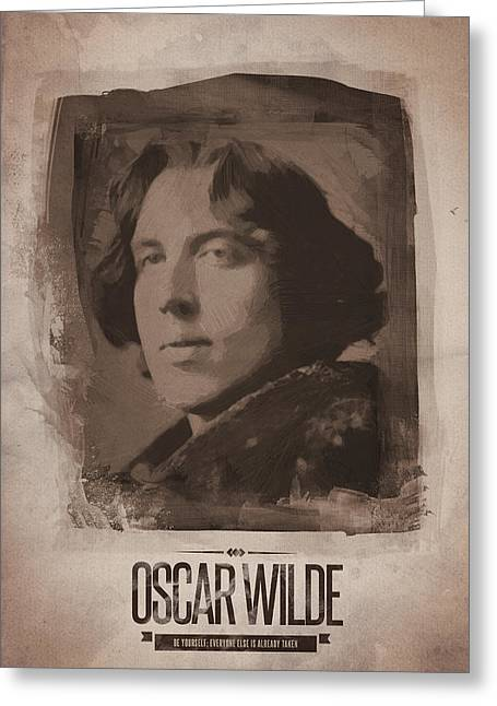 Oscar Wilde 02 Greeting Card by Afterdarkness