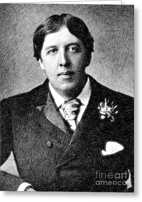 Oscar Wilde, Literary Legend By Js Greeting Card