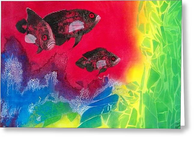 Oscars In Aquarium Greeting Card by Terry Honstead