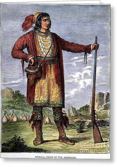 Osceola (c1804-1838) Greeting Card by Granger