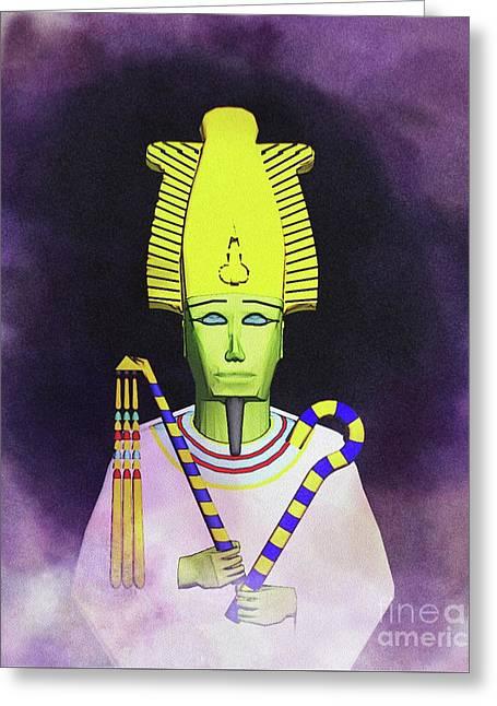 Osiris - God Of Egypt Greeting Card