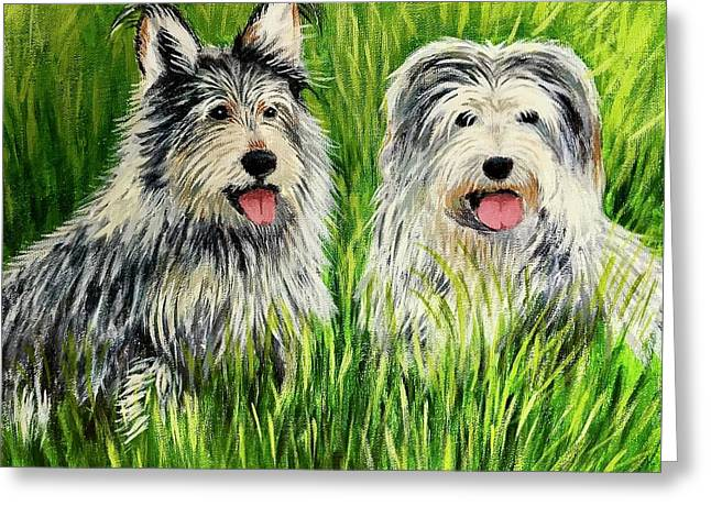 Oskar And Reggie Greeting Card