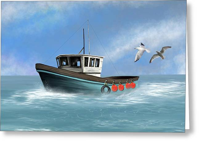 Greeting Card featuring the digital art Osprey by Mark Taylor