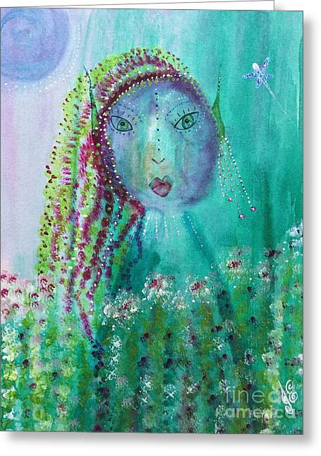 Greeting Card featuring the painting Ostara by Julie Engelhardt