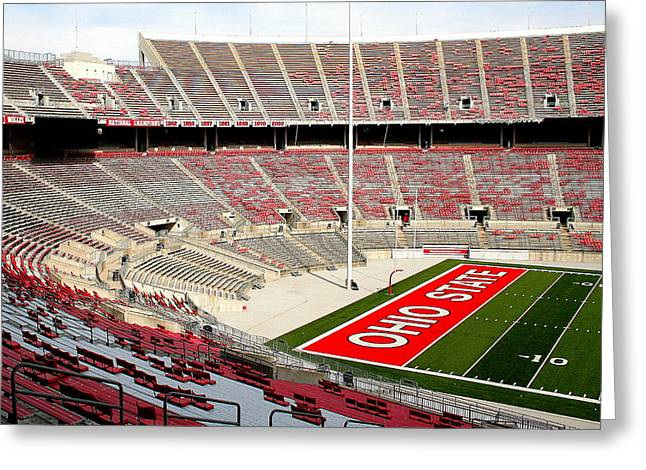 Osu Football Stadium Greeting Card