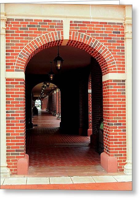 Osu Union Hallway Entrance  Greeting Card by Buck Buchanan