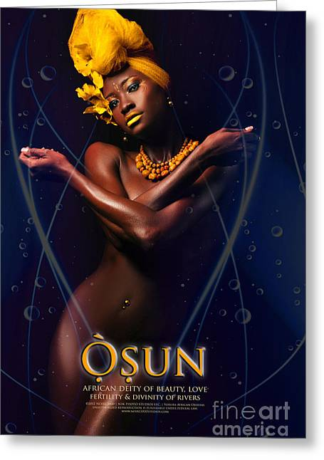 Osun Greeting Card by James C Lewis