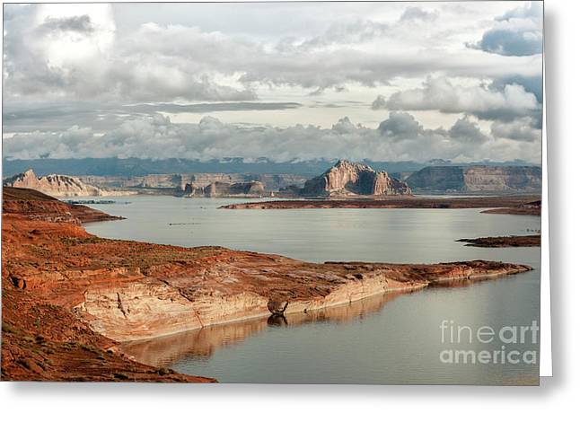 Otherworldly Morning At Lake Powell Greeting Card by Sandra Bronstein