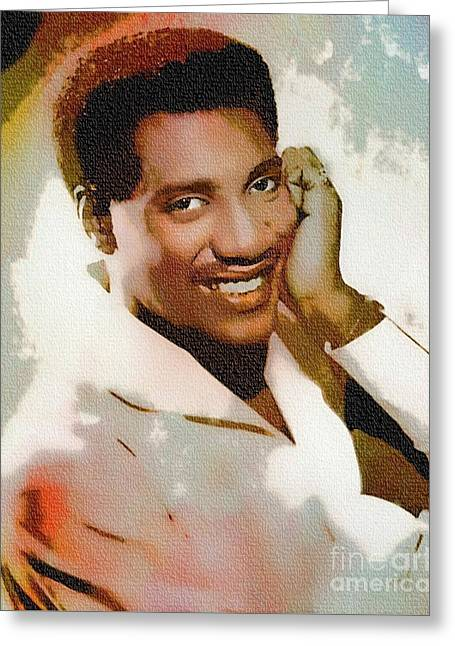 Otis Redding - Singer Pop Art Greeting Card by Ian Gledhill
