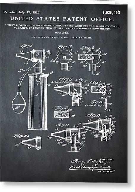 Otoscope Patent 1927 Chalk Greeting Card