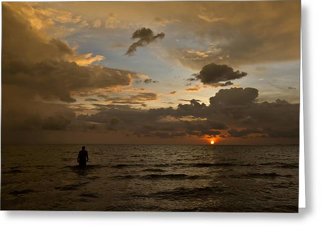 Otres Beach Sunset Greeting Card