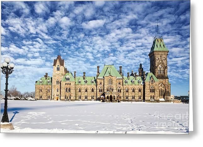 Ottawa Parliament East Block Greeting Card by Jane Rix