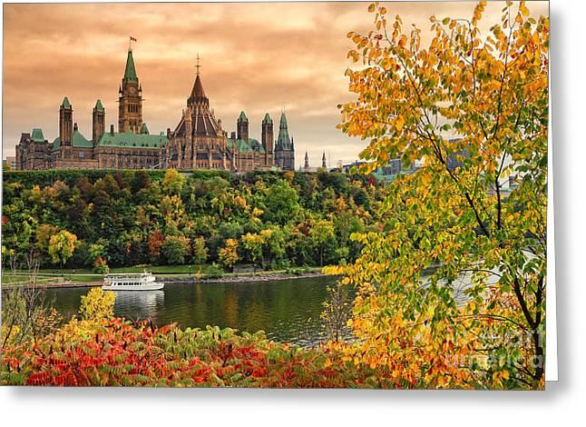 Ottawa Parliament Hill Autumn Greeting Card