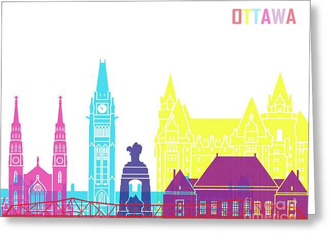 Ottawa V2 Skyline Pop Greeting Card