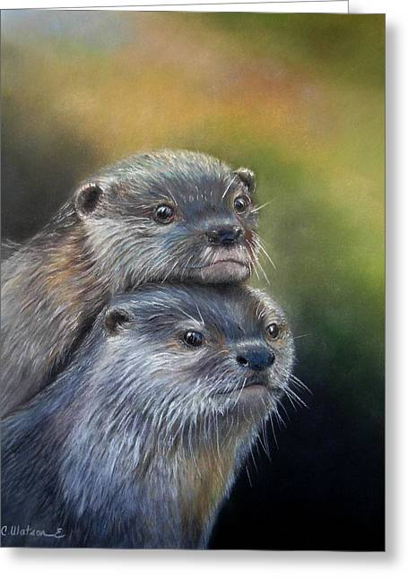 Otter Be Two Greeting Card by Ceci Watson
