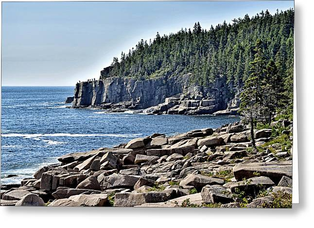 Coastal Maine Greeting Cards - Otter Cliffs in Acadia National Park - Maine Greeting Card by Brendan Reals