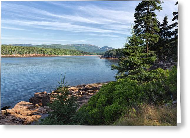 Greeting Card featuring the photograph Otter Cove by John M Bailey