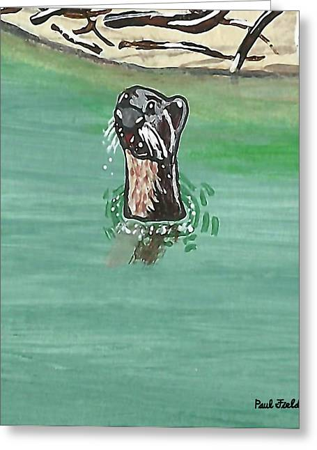 Otter In Amazon River Greeting Card