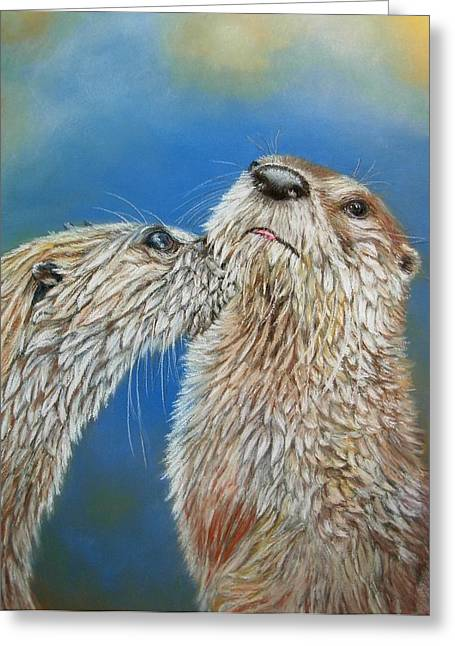 Otter Love Greeting Card by Ceci Watson