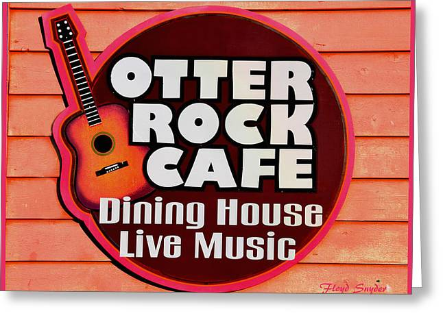 Otter Rock Cafe Morro Bay California Greeting Card by Floyd Snyder