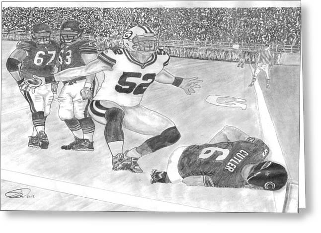 Ouch Mathews Cutler Greeting Card by Scott Anderson