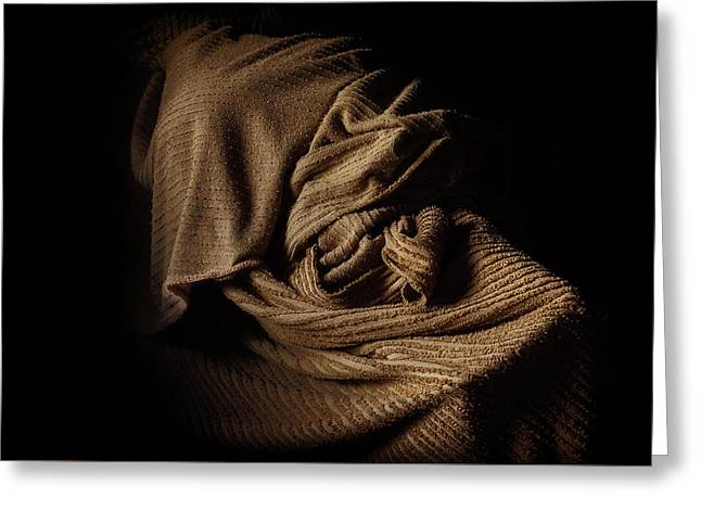 Oude Sprei In De Schuur --- Old Coverlet In The Barn Greeting Card
