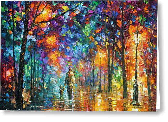 Our Best Friend  Greeting Card by Leonid Afremov