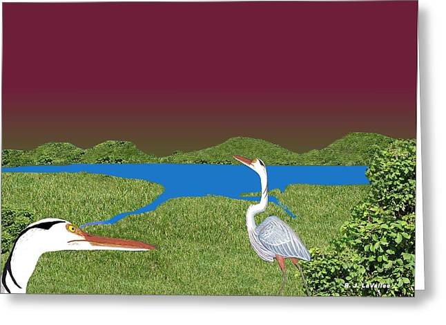 Our Blue Herons Greeting Card