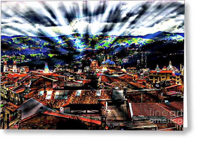 Our City In The Andes Greeting Card by Al Bourassa