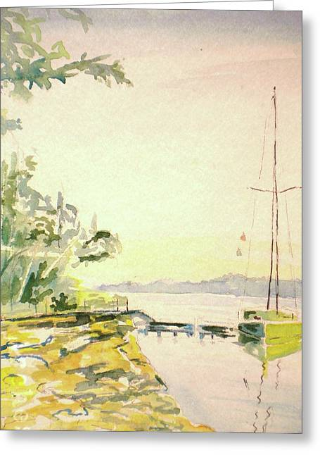Our Cove Escape Greeting Card by Jill Morris