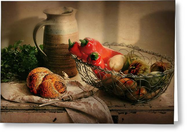 Our Daily Bread Greeting Card by Diana Angstadt